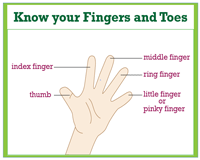 Know your fingers and toes