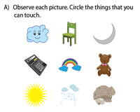 The sense of touch worksheet