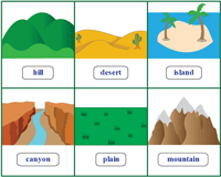 Landforms Chart | Flashcards