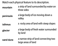 Landforms and Bodies of Water Worksheets