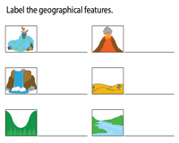 Name the Geographical Features