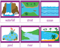 Bodies of Water Chart | Flashcards