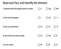 Identifying the Elements
