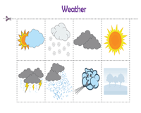 Weather vocabulary activity