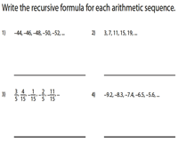 Arithmetic Sequence - Recursive