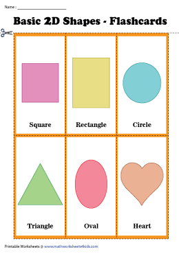 Basic 2D Shapes Flashcards