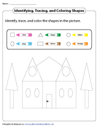 Identifying, Tracing, and Coloring the Shapes in the Picture