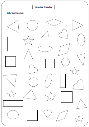 Printables Worksheet Shapes shapes worksheets and charts coloring shapes