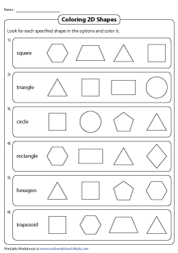 Coloring the Correct 2D Shape