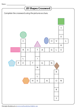 2D Shapes Crossword Puzzle