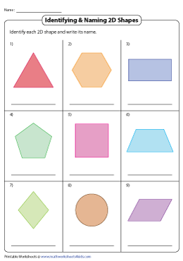 Identifying and Naming 2D Shapes