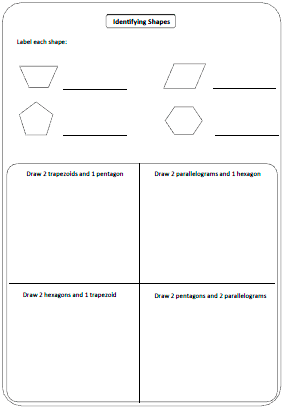 Worksheets 2d Shapes Worksheet shapes worksheets and charts labelling shapes