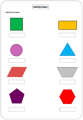 Worksheets Shapes Names shapes worksheets and charts naming shapes