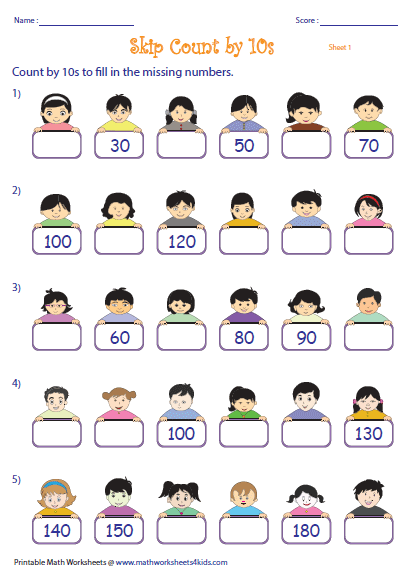 Worksheets Counting By Tens Worksheet skip counting by 10s worksheets missing numbers theme based