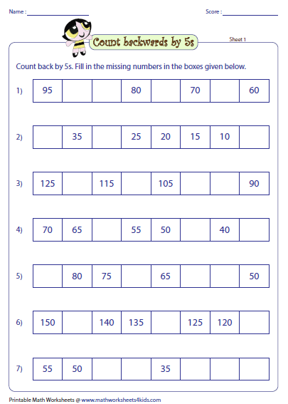 Worksheets Skip Counting By 5 Worksheets skip counting by 5s worksheets