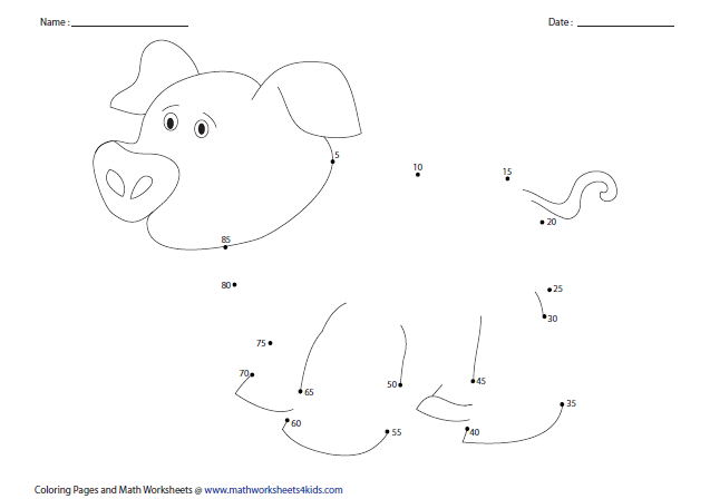 Math Worksheets Connect The Dots Math Worksheets Preschool and – Connect the Dots Math Worksheets