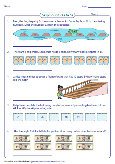 Word Problem Large on skip counting by 3 worksheet