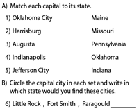 States, Capitals and Cities