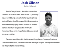 Josh Gibson | Reading Comprehension
