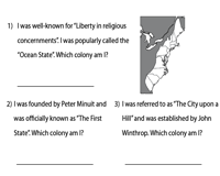 Thirteen Colonies | Riddles