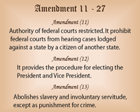 Amendments - 11 to 27 | Chart