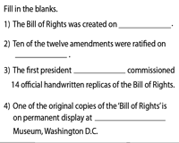 Bill of Rights | Fill in the blanks