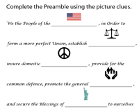 The Preamble | Fill in the blanks