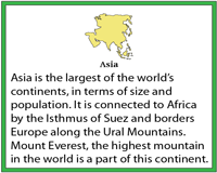 Seven Continents | Fact Cards