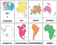 7 Continents of the World | Flashcards