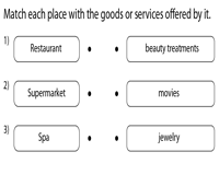 Matching places with Goods or Services