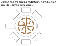 Compass Rose | Cut and Glue Activity