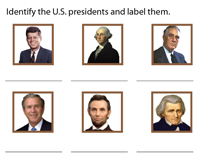 Notable U.S. Presidents - Label