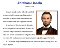 Abraham Lincoln | Reading Comprehension