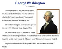 George Washington | Reading Comprehension