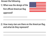 American Flag | Answer the following
