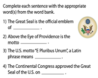 The Great Seal of the U.S. | Fill in the blanks