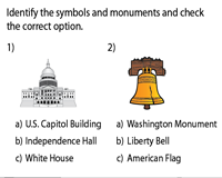 Identify the Symbols and Monuments - MCQ