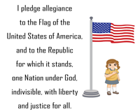 Pledge of Allegiance | Printable Chart