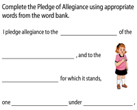 Pledge of Allegiance | Fill in the blanks