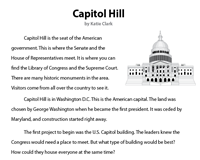 Capitol Hill | Reading Comprehension Passage