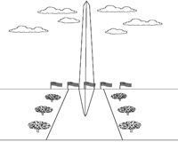 Washington Monument Coloring Page - Ultra Coloring Pages | 160x200