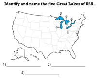 Blank Map of the United States and Printable Worksheets