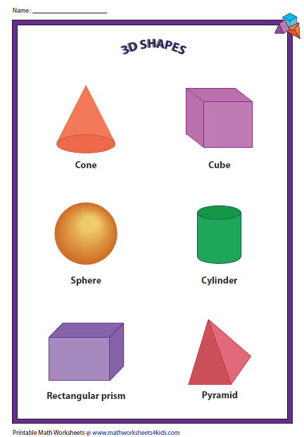 ... Shapes Worksheet Recognition. on worksheet on 2 and 3 dimensional