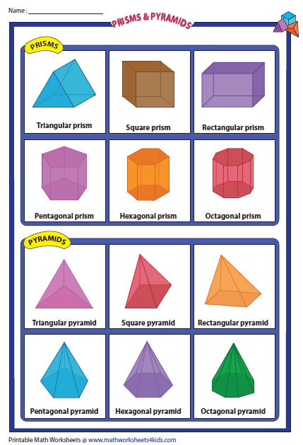 3d Shapes Pyramids And Prisms | Apps Directories
