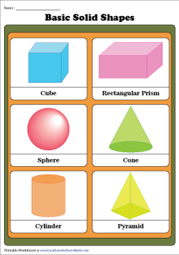 Basic Solid Shapes Chart