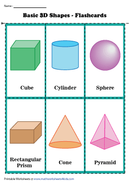 Basic Solid Shapes | Flashcards