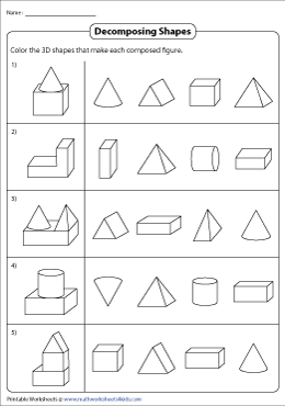 Decomposing Combined Shapes into 3D Shapes