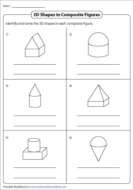 Identifying 3D Shapes in Composite Figures