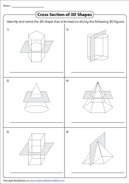 Identifying Cross Sections of 3D Figures
