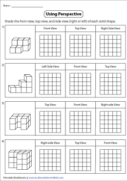 Shading Views of Solid Blocks in Grids